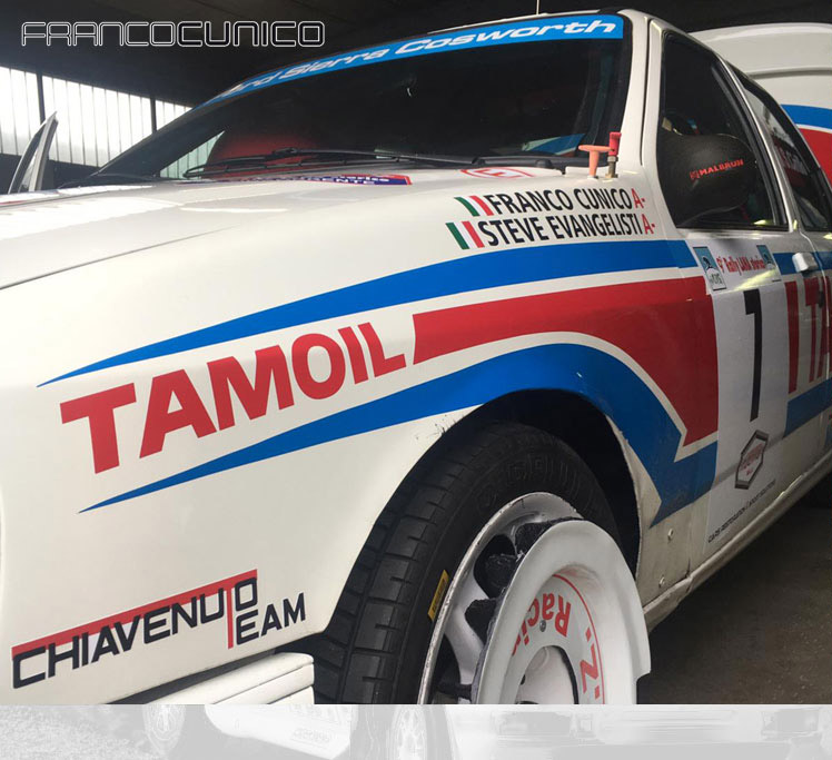 Noleggio Ford Sierra Cosworth gruppo A 4x4: rally, salita, pista ed altri eventi